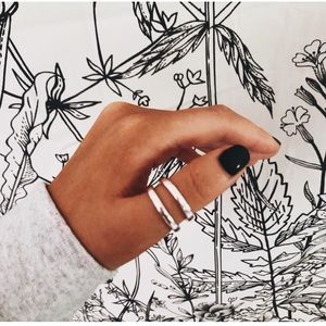 MADEWELL ↠ STACKING THUMB RINGS